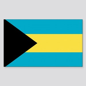 Bahamas Flag Rectangle Sticker